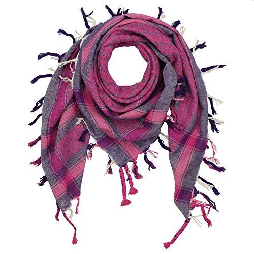 Freak Scene Superfreak Palituch - Peshtemal-Webung - pink - 100x100 cm - Pali Palästinenser Arafat Tuch - 100{1e397ba6feae195c40726ac1b7a137382e55a7548f1b9af74ef9ff2af0b78303} Baumwolle
