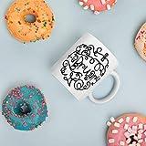 N\A Taza de cumpleaños de febrero - Taza de café de febrero - Taza de café con Leche - Taza del Zodiaco - Taza de café de cerámica Blanca - Taza de Ilustraciones de febrero - Regalo de Acuario