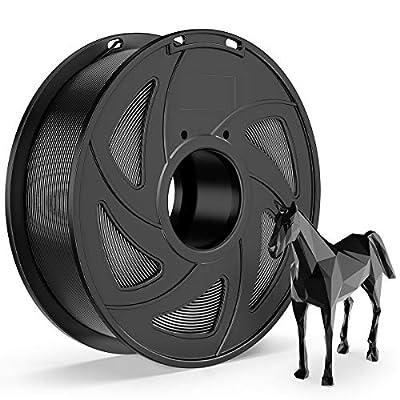 E-DA Flexible TPU Filament 1.75mm 1kg Spool 3D Printer Filament 3D Printing Materials Dimensional Accuracy +/- 0.05mm Black