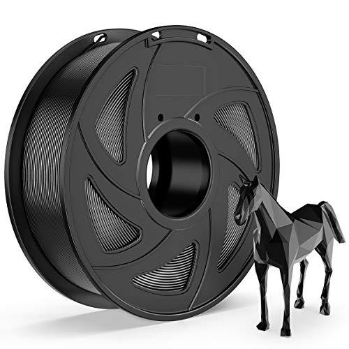 E-DA PLA 3D Printer Filament, PLA Filament 1.75mm 1KG, With High Strength and Better Toughness, 3D Printing Filament for 3D Printers, (Black)