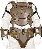 N/W Juego de Armadura táctica Airsoft, Protector de Pecho táctico Ajustable Molle, cinturón de Combate de protección de Codo Ajustable, Traje de película CS