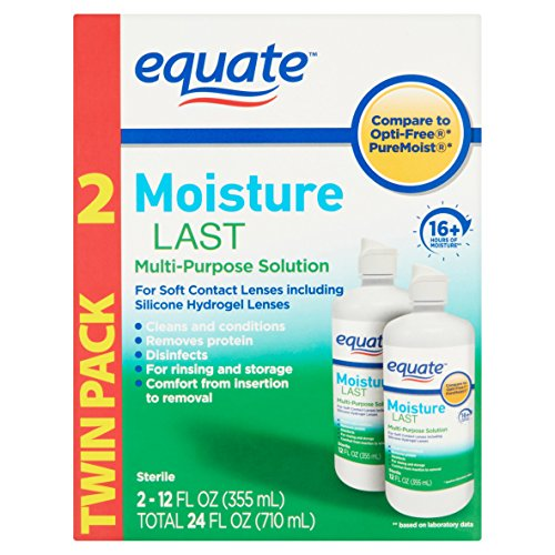 Equate - Moisture Last, Soft Contact Lens Multi-Purpose Solution, 24 FL OZ (Compare to Opti-Free)