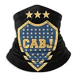 SfeatrutMAT Escudo Del Club Atletico Boca Juniors - Braga de cuello unisex de microfibra, resistente al viento, a prueba de polvo, protección UV, color negro