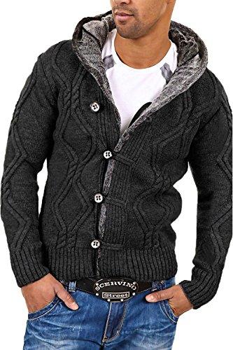 CARISMA Strickjacke Jacke Pullover 7013 [Dunkelgrau, XL]