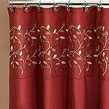 Popular Bath Aubery Shower Curtain, Burgundy