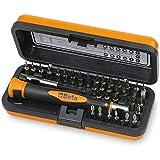 Beta 1256/C36-2 - Set Mini Cacciaviti Professionali 36 Inserti, Mini Cacciaviti di Precisione, Microgiravite con Inserti Intercambiabili da 4 mm e Prolunga Magnetica, Dimensioni: 130 x 60 x 35 mm