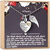Misooky Heart Urn Necklace for Ashes Family Cremation Jewelry Memorial Pendant Keepsake with 12 Birthstones and Gift Box (Mom)