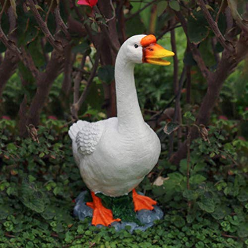 FGVBC Resin Garden Patio Goose Statues Decor Outdoor Realistically Animal Sculptures Lawn Backyard Home Decor Ornaments Yard Art Figurines B 23x14x36cm(9x6x14inch)