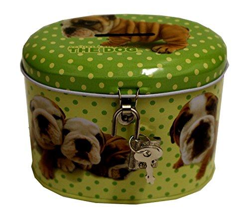 Unbekannt Artlist Collection The Dog Hunde Spardose mit Schloss und Schlüssel (Grün)