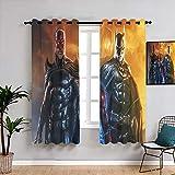 Batman & Flash Tende decorative W42 x L63 Bambini Decor Pattern Tende Finestra Tenda Tessuto per Finestre Decorazione