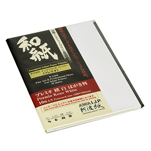 Awagami Premio Kozo Fine Art Inkjet-Papier, 180 g/m², A1, 60 x 84 cm, 10 Blatt 10 Blatt 3.9 x 5.9