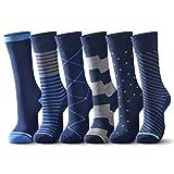 raku. Socken Herren Business 6 Paar Classic Atmungsaktive Baumwolle Komfortb&, Perfekt für Business Freizeit Arbeitssocken Anzug (Blau, 43-46)