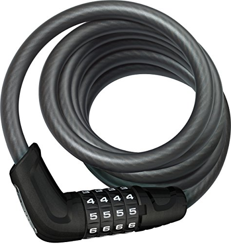 ABUS Fahrradschloss 6512C/180/12 BK, black, One Size, 13415-9