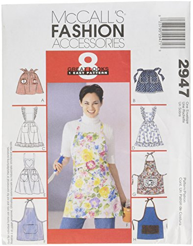 McCall's Patterns 0389512 McCall's Misses' Aprons Pattern M2947 Size OSZ, Each