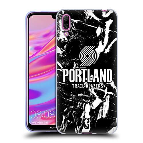 Officiële NBA Marmer 2019/20 Portland Trail Blazers Soft Gel Case Compatibel voor Huawei Enjoy 9 (2018)