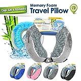 Cloudz Cool Gel Memory Foam Travel Pillow - Grey