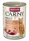 Comida para gatos animonda Carny Adult, comida húmeda para gatos adultos, pollo, pavo + corazón de pato, 6 x 400 g