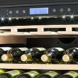Klarstein Vinovilla Grande - Weinkühlschrank, Getränkekühlschrank, 425 Liter, 13 Holzeinschübe, Touch-Bediensektion, LED-Innenbeleuchtung, Weinglashalterung, Anti-Vibrationssystem, schwarz - 2