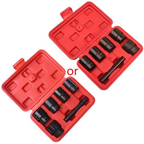 bibididi 6Pieces 1/2 Inch Twist Socket 5 Extractor de Pernos removedor de Tuerca de Tuerca desgastada dañada, Herramientas manuales a batería