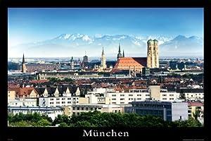 Empireposter – Deutsche Städte – München – Größe (cm), ca. 91,5×61 – Poster