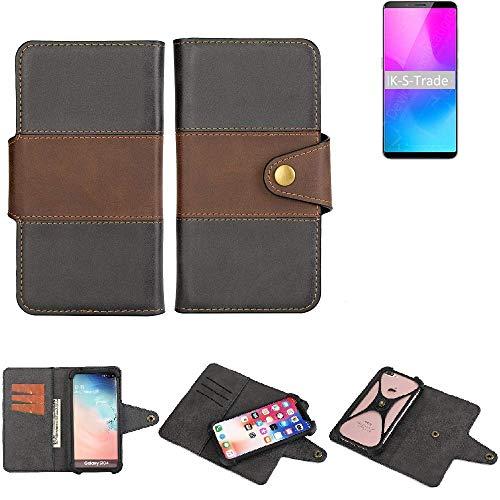 K-S-Trade® Handy-Hülle Schutz-Hülle Bookstyle Wallet-Case Für Nubia Z18 Mini Bumper R&umschutz Schwarz-braun 1x