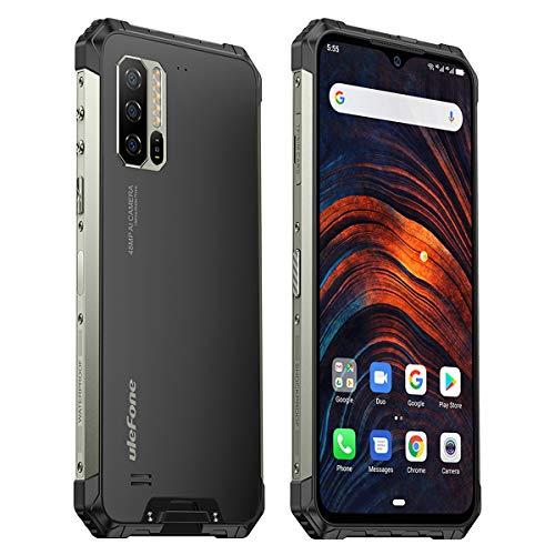 Ulefone Armor 7 8GB RAM Outdoor Smartphone (16.0cm (6,3 Zoll) FHD+ Bildschirm, 128GB interner Speicher, Dual-SIM, Android 9, Black, Herzfrequenzsensor) Schwarz