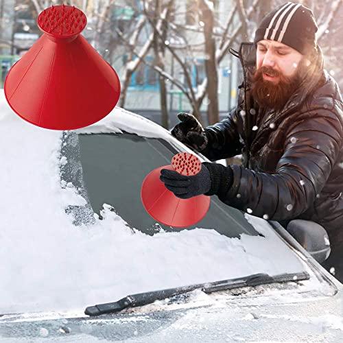 QMJHHW Runder Eiskratzer Eisschnee...