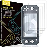 Orzly Screen Protector for Nintendo Switch Lite 2019 Model [4 Pack] Tempered Glass Screen Protectors. No Bubbles Easy Installation Anti Scratch Edition
