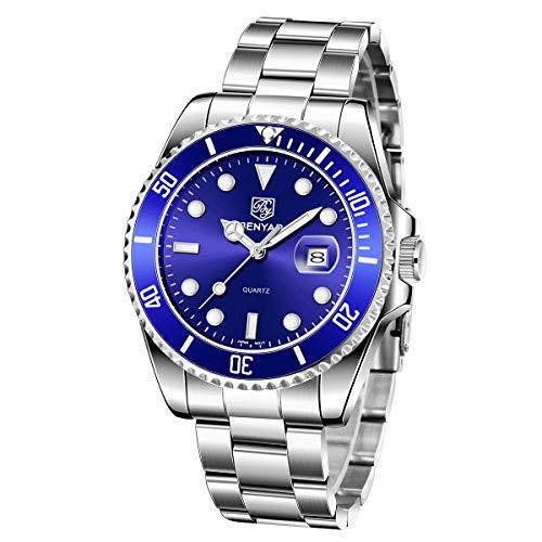 BENYAR Herrenuhren wasserdicht Edelstahl Analog Quarzuhr Herren Luxusmarke Mode Business Armbanduhr