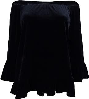 Women's Velvet Off-The-Shoulder Top