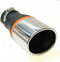 Universal 575 - Silenciador de tubo de escape para coche, acero inoxidable, cromado