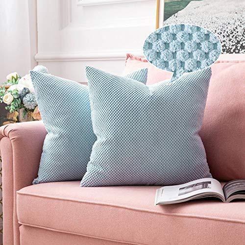 MIULEE 2er Set Granulat Kissenbezug Ananas Weiches Massiv Dekorativen Quadratisch Überwurf Kissenbezüge Kissen für Sofa Schlafzimmer 20