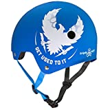 (Small/Medium, GUTI) - Triple Eight Mike Vallely Get Used To It Brainsaver Dual Certified Bicycle/Skate Helmet with EPS Liner (Get Used To It Helmet - Blue - S/M)