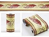 Borde del papel pintado bandera roja Auto Adhesivo del Papel Pintado del PVC Cenefa autoadhesiva para decoración de pared de cocina baño 10 cm X 900 cm