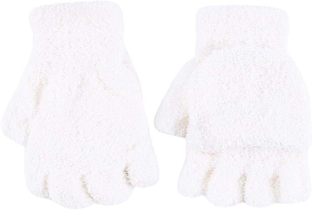 Sevenfly Winter Gloves Warm Flip Fingerless Gloves Mittens for Women Gifts