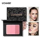 Cwemimifa Coloured Emotions Duo Powder Rouge Almond,3 Farben Glatte Make-up Kontur Gesicht Foundation Puder Creme Concealer Palette