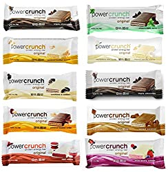 Power Crunch Protein Bars Variety Pack - 10 Bars, 10 different flavors