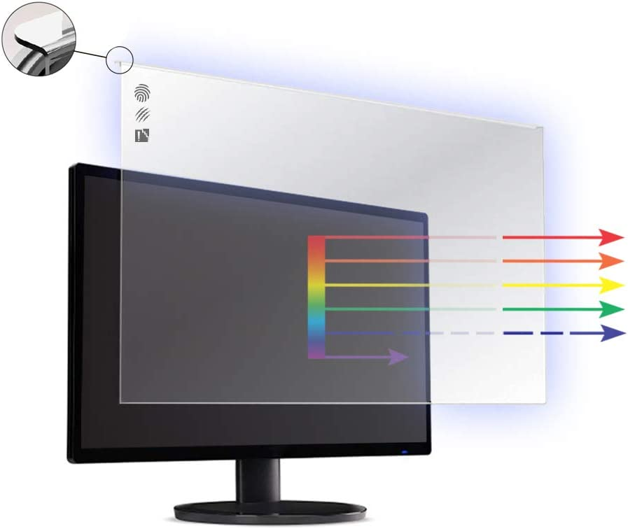 21 22 Zoll Vizomax Anti Blau Licht Tv Bildschirm Schutz Für Lcd Led Und Plasma Hdtv Uv Schutz Fernseher Displayschutz Protector Elektronik
