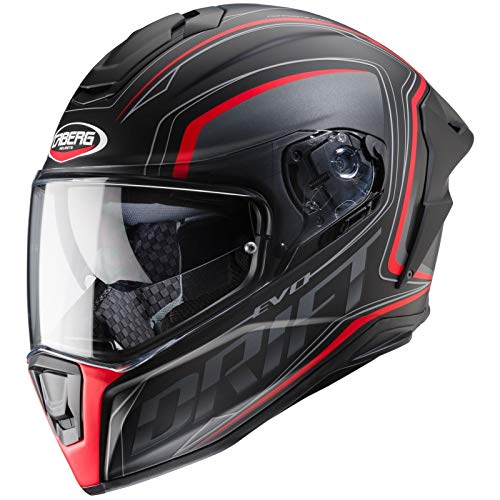 Caberg CASCO DRIFT EVO INTEGRA MATT BLACK/ANTHRACITE/RED FLUO M
