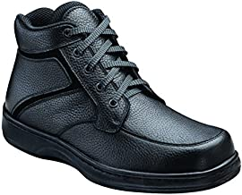 Orthofeet Proven Plantar Fasciitis, Foot Pain Relief. Extended Widths. Best Orthopedic Diabetic Men's Boots Highline Black