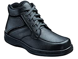 Orthofeet Highline Black Men's Heel Pain Boots
