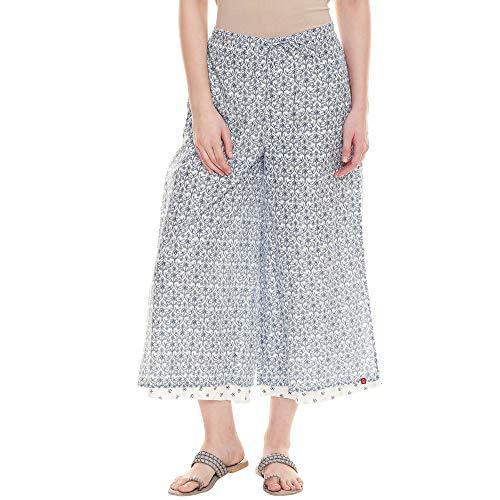 BIBA Damen Baumwolle Chudidar-Hose (CORE BOT16003_Blau_Small)