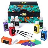 Magicfly Soft Pintura para Tela Textil Ropa Permanente Juego de 30 Colores 60 ML, Lavable...