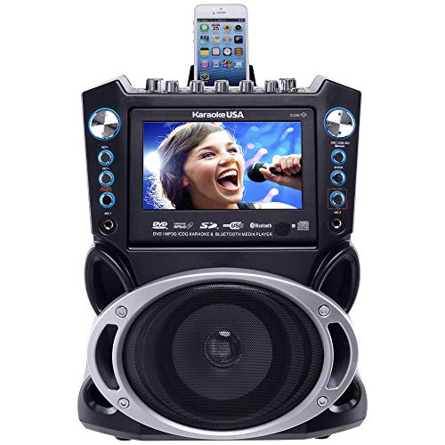 KARAOKE USA GF840 KARAOKE PLAYER 7' SCREEN 2 MIC 300 SONGS