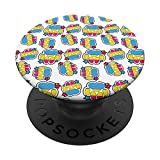 Pansexual Furry Fursona Dog Paw Print LGBTQ Gay Pride PopSockets Grip and Stand for Phones and Tablets