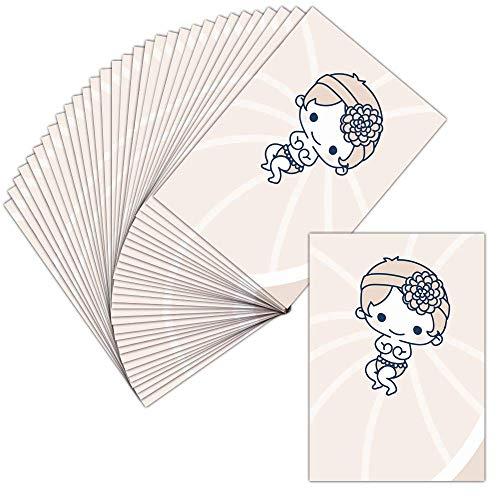 Tarjeta invitaciones nacimiento niña–32tarjetas–Tarjeta nacimiento de una pequeña niña ➽ Dispo en 3tamaños Carte pliée - 14 cm x 19,5 cm