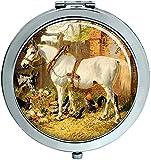Weiß Carthorse von Herring Kompakter Spiegel