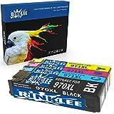 RINKLEE 4 Compatibles 970XL 971XL 970 971 XL Alta Capacidad Cartuchos de Tinta Reemplazo para HP OfficeJet Pro X576dw X551dw X476dw X451dw