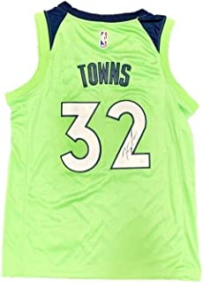 Karl Anthony Towns Autographed Signed Memorabilia Minnesota Timberwolves 2018 City Jersey JSA