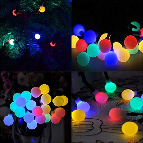 Premium Serie de luz multicolor 50leds solar a prueba de agua al aire libre de la bola de cuerdas de vacaciones de Navidad de la boda del jardín decoración del hogar de la secuencia del LED La segurid